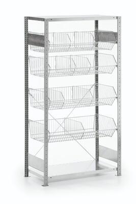 Draadmandenstelling, Aanbouwmodule, H2.000 x B1.000 mm, Verzinkt