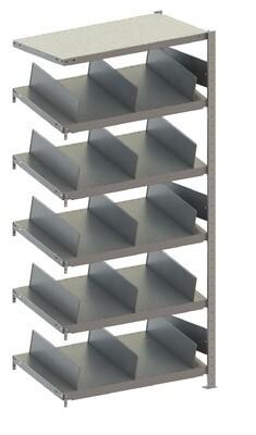 Doorschuifstelling S3, Type M Aanbouwmodule, H2.000 x B1.000 mm, Verzinkt