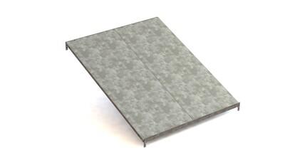 Extra doorschuifniveau, Type L,  B1.000 x D1.228 mm, Verzinkt