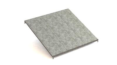 Extra doorschuifniveau, Type L,  B1.300 x D1.228 mm, Verzinkt