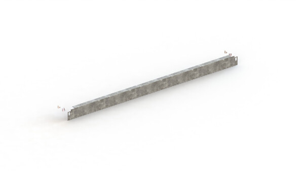 Plint voor inhaakstelling, H56 mm, Verzinkt