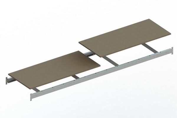 Extra niveau spaanplaat,  B2.600 x D650mm, Verzinkt