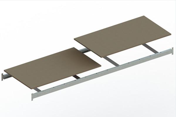 Extra niveau spaanplaat,  B2.600 x D800mm, Verzinkt