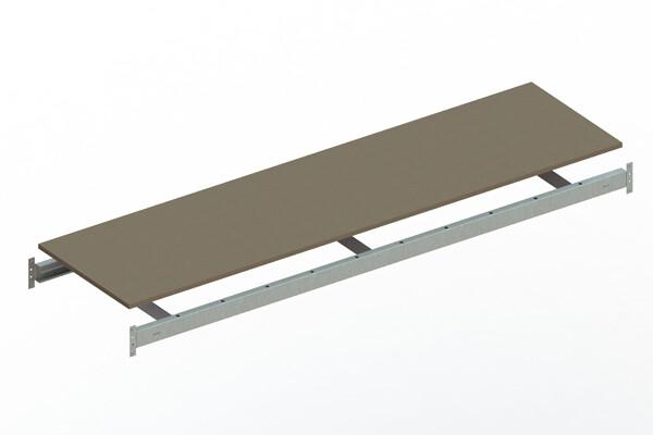 Extra niveau spaanplaat,  B2.200 x D650 mm, Verzinkt