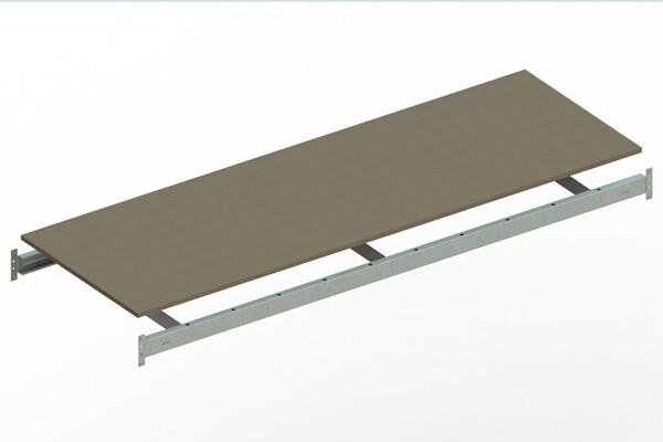 Extra niveau spaanplaat,  B2.200 x D800 mm, Verzinkt