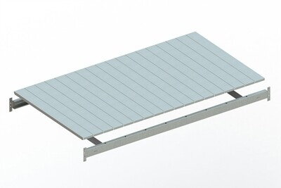 Extra niveau staalpanelen  B1.800 x D1.050 mm, Verzinkt