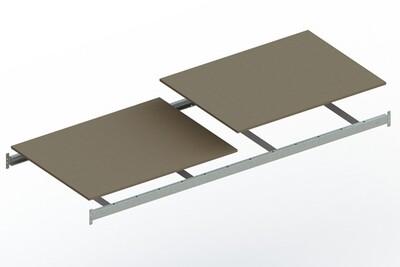 Extra niveau spaanplaat,  B2.600 x D1.050 mm, Verzinkt
