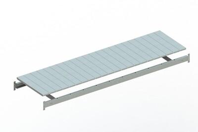 Extra niveau staalpanelen,  B2.200 x D650 mm, Verzinkt