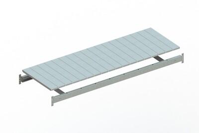 Extra niveau staalpanelen,  B1.800 x D650 mm, Verzinkt