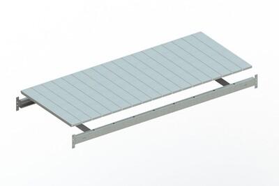 Extra niveau staalpanelen,  B1.800 x D800 mm, Verzinkt