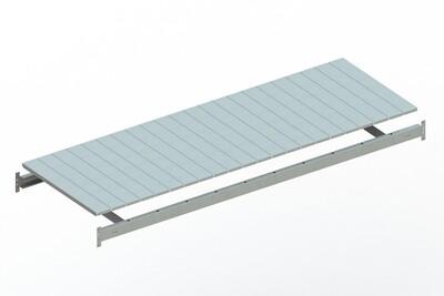 Extra niveau staalpanelen,  B2.200 x D800 mm, Verzinkt