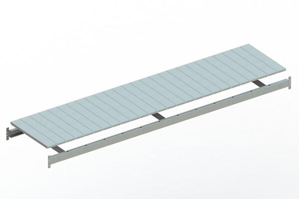 Extra niveau staalpanelen,  B2.600 x D650mm, Verzinkt