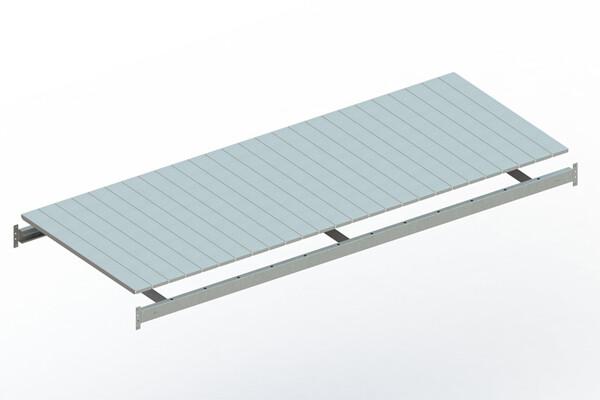 Extra niveau staalpanelen,  B2.600 x D1.050 mm, Verzinkt