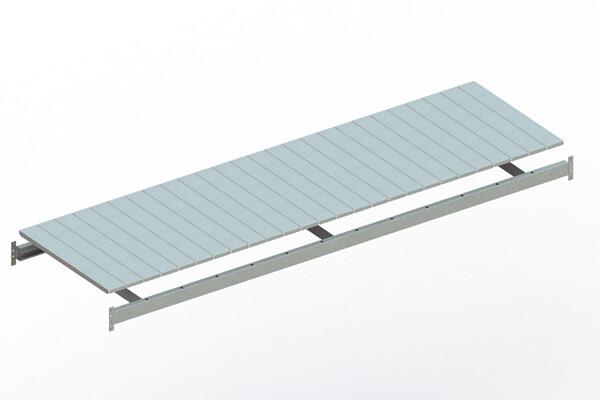 Extra niveau staalpanelen,  B2.600 x D800mm, Verzinkt