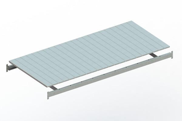 Extra niveau staalpanelen,  B2.200 x D1.050 mm, Verzinkt