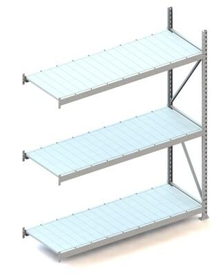 Grootvakstelling, Aanbouwmodule  H2.200 x B1.800 mm, Staalpanelen, Verzinkt