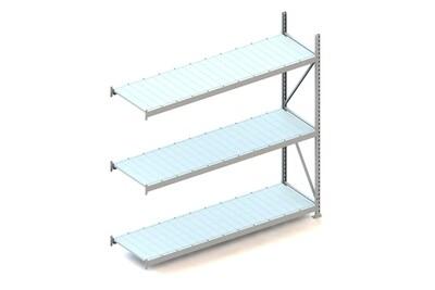 Grootvakstelling, Aanbouwmodule  H2.200 x B2.200 mm, Staalpanelen, Verzinkt