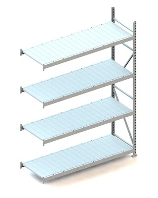 Grootvakstelling, Aanbouwmodule  H2.500 x B1.800 mm, Staalpanelen, Verzinkt