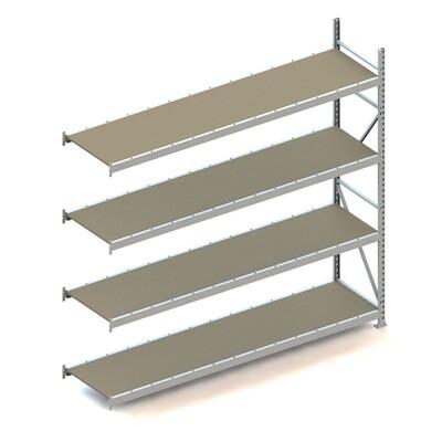 Grootvakstelling, Aanbouwmodule  H2.500 x B2.600 mm, Spaanplaat, Verzinkt