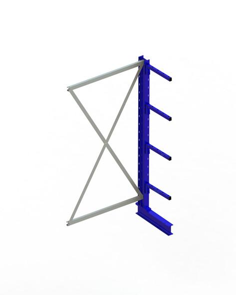 Draagarmstelling Light, Aanbouwmodule  H2.000 x B1.000 mm, RAL5010