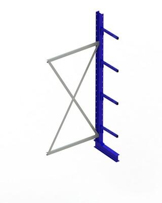 Draagarmstelling Light, Aanbouwmodule  H2.500 x B1.000 mm, RAL5010