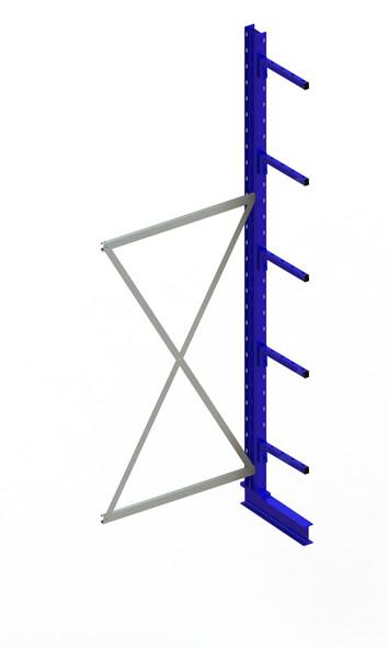 Draagarmstelling Light, Aanbouwmodule  H3.000 x B1.000 mm, RAL5010