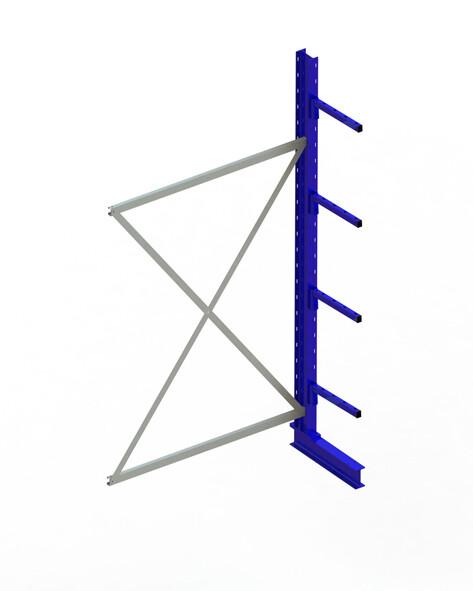 Draagarmstelling Light, Aanbouwmodule  H2.500 x B1.300 mm, RAL5010