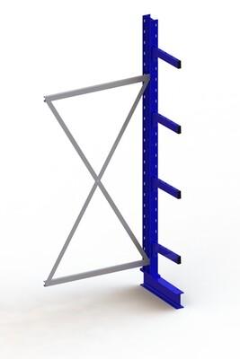 Draagarmstelling Medium, Aanbouwmodule  H2.500 x B1.000 mm, RAL5010