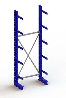 Draagarmstelling Medium, Basismodule  H3.000 x B1.000 mm, RAL5010