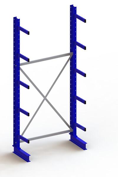 Draagarmstelling Medium, Basismodule  H3.000 x B1.300 mm, RAL5010