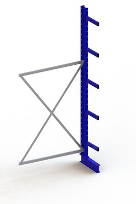 Draagarmstelling Medium, Aanbouwmodule  H3.000 x B1.300 mm, RAL5010