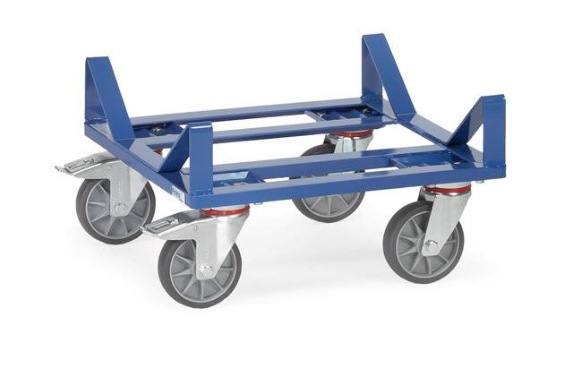 Rolplateau, Beugelconstructie, 400 kg, RAL 5007