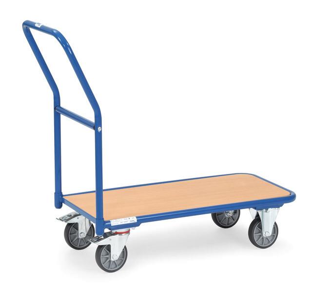 Magazijnwagen, Houten laadvlak, 250 kg, RAL 5007