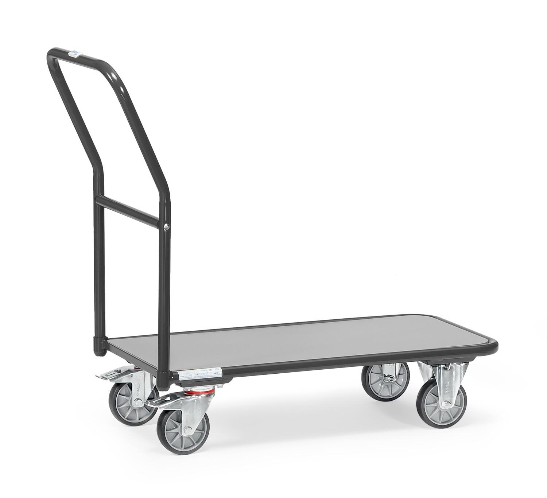 Magazijnwagen, Toplaag grijs, 250 kg, RAL 7016