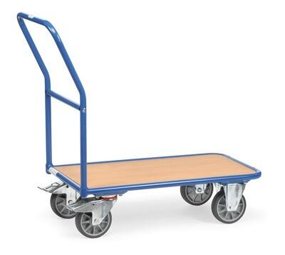 Magazijnwagen, Houten laadvlak, 400 kg, RAL 5007