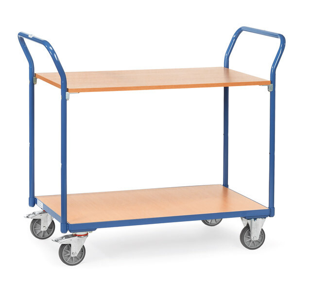 Tafelwagen, Houten laadvlak, 200 kg, RAL 5007
