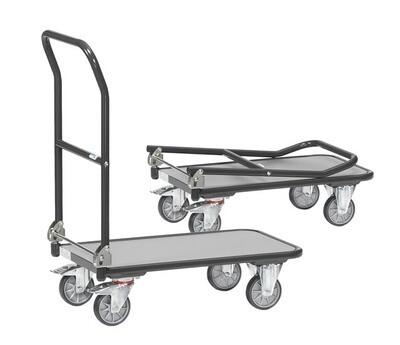 Opklapbare wagen, Toplaag grijs, 250 kg, RAL 7016