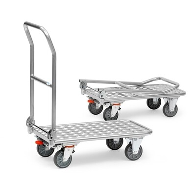 Opklapbare wagen, aluminium laadvlak, 200 kg