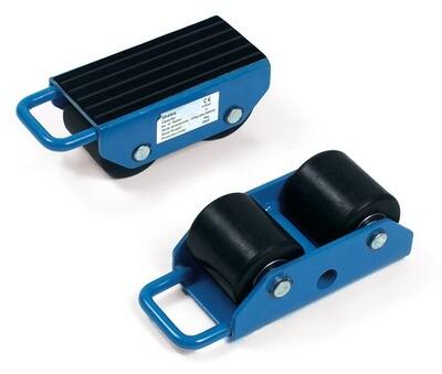 Transportrollers, Antislip rubber, RAL 5007