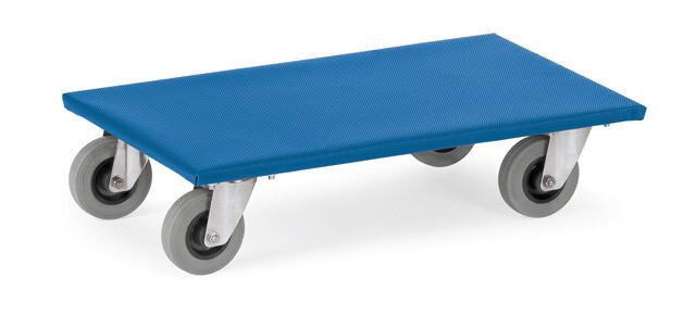 Meubelrollers, Antislip rubber laadvlak, streeploos rubber wielen