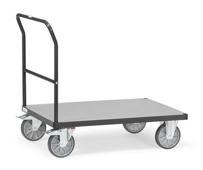 Duwbeugelwagen, Toplaag grijs, 500 kg, RAL 7016