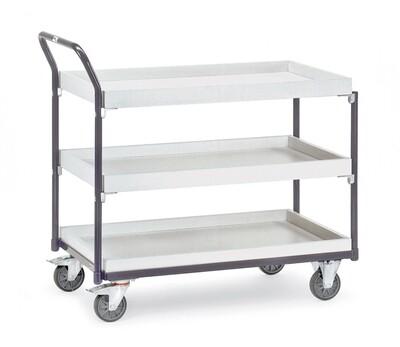 ESD-Tafelwagen, 2 etagebakken, 300 kg, RAL 7015