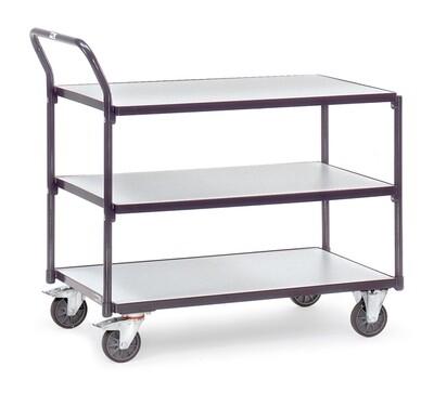 ESD-Tafelwagen, 3 etages, 300 kg, RAL 7015