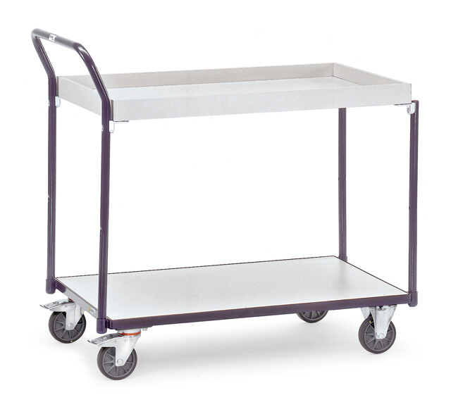 ESD-Tafelwagen, etagebak, 300 kg, RAL 7015
