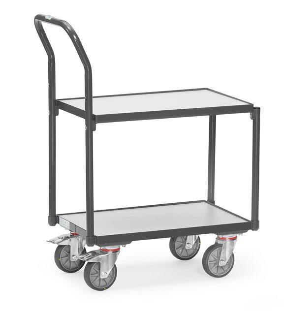 ESD-Etageroller, Eurobakken, 250 kg, RAL 7015