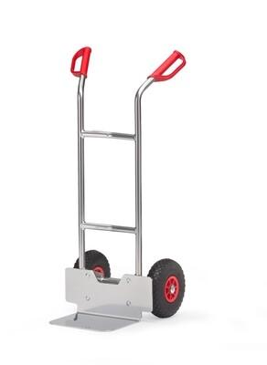 Steekwagen, Aluminium schep, Gebogen beugels, 200 kg, Aluminium
