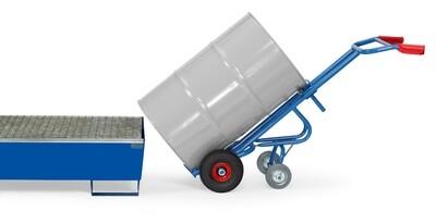 Vatensteekwagen, Stalen vaten, 300 kg, RAL 5007