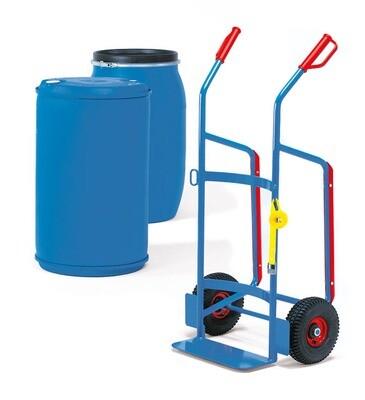 Vatensteekwagen, Kunststof vaten, 250 kg, RAL 5007