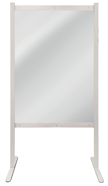 Hygiënische scheidingswand, Basismodule, H2.000 x B1.000 mm