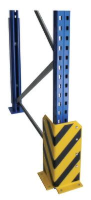 Aanrijbescherming, L-vorm, H400 mm, geel/zwart
